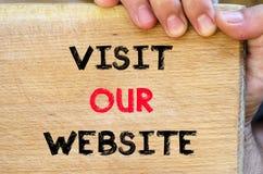 参观我们的网站文本概念 库存照片