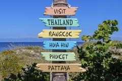 参观泰国指南 免版税库存照片