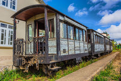 参观的古色古香的火车运输游人在大叻 库存照片