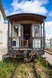 参观的古色古香的火车运输游人在大叻 图库摄影