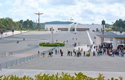 参观的圣所在法蒂玛 库存图片