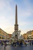 参观的纳沃纳广场,一个城市广场在罗马 库存照片