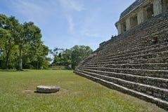 参观palenque墨西哥 免版税图库摄影