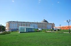 参议院大厦在莫斯科 从Ivanovskaya广场的看法 免版税图库摄影