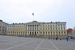 参议院大厦(芬兰的政府的宫殿) 免版税图库摄影
