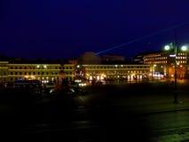 参议院正方形在晚上 库存照片