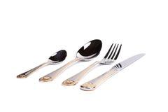 叉子、刀子和匙子 库存照片