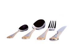 叉子、刀子和匙子 免版税库存照片