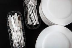 叉子、刀子和匙子 免版税库存图片