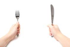 叉子刀子 免版税库存图片