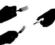 叉子剪刀 库存图片
