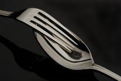 叉子匙子 库存照片