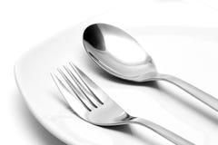 叉子匙子 免版税库存图片