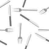 叉子和刀子 皇族释放例证