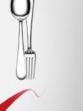 叉子和匙子 库存照片