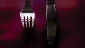 叉子和nife 免版税图库摄影