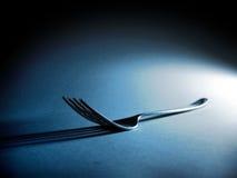 叉子影子 库存照片