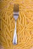 叉子意大利面食 库存照片