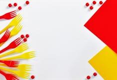 叉子明亮的框架  免版税图库摄影