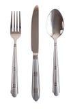 叉子查出的刀子集合生来有福 图库摄影