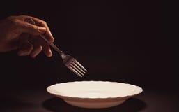 叉子现有量藏品男 免版税库存照片