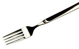 叉子白色 图库摄影