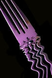 叉子紫色 库存照片