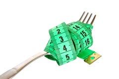 叉子评定的磁带 免版税图库摄影