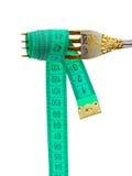 叉子评定的磁带 库存图片