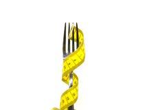 叉子评定的磁带 图库摄影