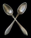叉子银器 库存照片
