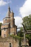 及早城堡中世纪老废墟 库存照片