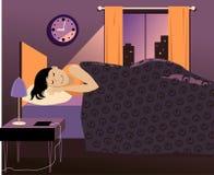 及早对床 向量例证