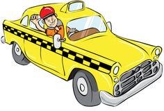 友好出租汽车司机 向量例证