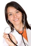 友好医生的女性 免版税图库摄影