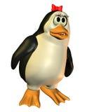 友好女孩企鹅 库存照片