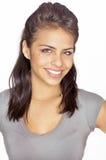 友好微笑的少妇 免版税库存图片
