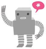 友好机器人挥动 库存例证