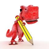 友好的动画片恐龙 库存照片