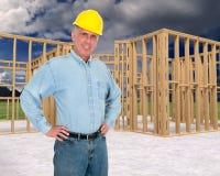 友好的家庭建筑工人,承包商 库存图片