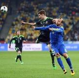 友好的比赛乌克兰对威尔士在Kyiv,乌克兰 库存照片