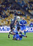 友好的比赛乌克兰对威尔士在Kyiv,乌克兰 库存图片