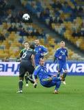 友好的比赛乌克兰对威尔士在Kyiv,乌克兰 免版税库存图片