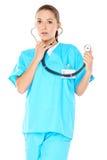 友好的确信的女性医生 图库摄影