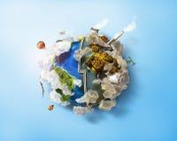 友好的Eco,绿色能量概念 向量例证