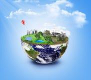 友好的Eco,绿色能量概念 免版税库存照片