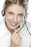 友好operato秘书电话 库存图片