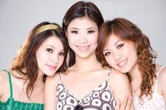 友好threesome 免版税库存图片