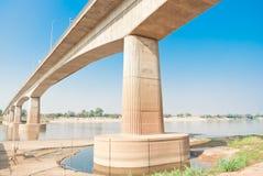 友谊大桥,泰国-老挝,首先 免版税库存照片