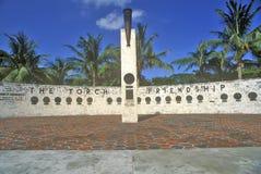 友谊火炬在Bayside公园,迈阿密,佛罗里达的 库存照片
